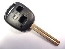 Remplacement 2 boutons Boitier Clé pour Toyota Corolla Rav4 Celica Camry Yaris