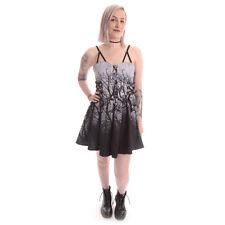 Vixxsin Women's Grey Dark Forest Dress Gothic Sleeveless Mini 12