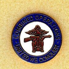 Enamel Lapel Badge  Combined Operations