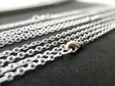10 Silber Halsketten 80cm Nickelfrei Gliederkette 2x3mm fertige vorgefertigte