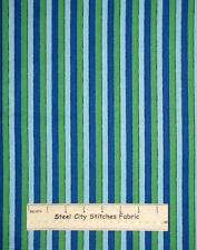 Sesame Street Stripe Blue Green Boy Girl Quilting Treasures Cotton Fabric YARD