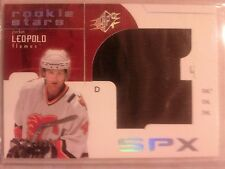 2002-03UD SPx RC Rookie Jersey 659/999 Jordan Leopold Card 168 Giant Swatch !!!