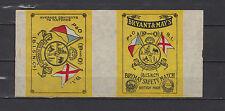 Ancienne  étiquette Allumette Grande Bretagne Drapeaux Eléphant