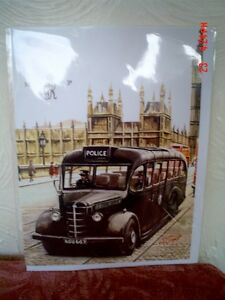 Lovely Police Bus Large Quality Greeting Card