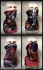 Tour de cou Cagoule cache nez protection ~Croix malte tete mort skull ski moto ~