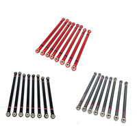 8PCS Metal Links Linkage Rod Para 1/10 Axial SCX10 90046 313mm Wheelbase RC Car