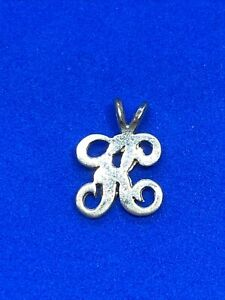 14K Yellow Gold Letter A or K ? Charm or Pendant
