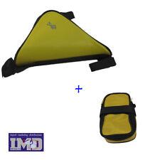 Borsa a triangolo porta oggetti da telaio + Borsetta sottosella per camera bici