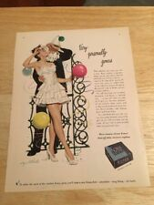Vintage 1947 - KOTEX Magazine Ad -  COBY WHITMORE Illustration