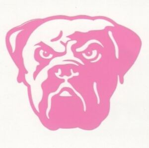Pink Cleveland Browns helmet car window RTIC decal sticker up to 12 inches