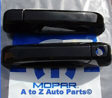 NEW 2015-2018 Dodge RAM,Express BLACK (PXR) Color Matched FRONT Door Handles,OEM