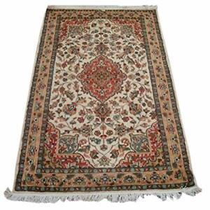 Medallion Flowers Kasha Hand Knotted Area Rug Wool Silk Carpet (5 x 3)'