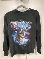 Smith & Wesson 3D Emblem Sweatshirt Shirt Long Sleeve Made in USA MEDIUM Vintage