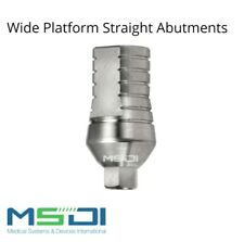 10x Wide Platform Straight Abutments Dental Implant Abutment - MIS / Adin / MSDI