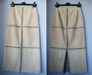 "Maxi gonna lunga simil pelle scamosciata VINTAGE ""Silvy Walking"" S/M skirt Italy"