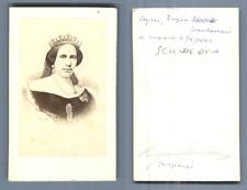 Sophie Wilhelmine, reine consort de Suède et de Norvège CDV, Vintage albumen S