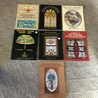Vintage Lot 7 Stained Glass Crafts Designs Patterns Books L2