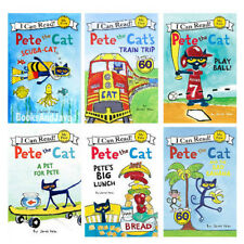 I Can Read Pete the Cat Scuba Cat,Pet for Pete,Train,Banana,Play Ball,Lunch 6Bks
