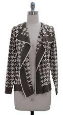 Women's Long Sleeve knit  Houndstooth Print Cardigan