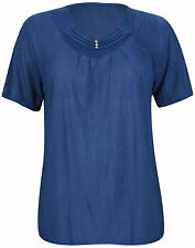 Polyester Short Sleeve Casual Tops & Blouses for Women