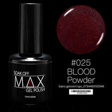 MAX 15ml Soak Off Gel Polonais Nail Art UV LED Couleur # 025 - Poudre de sang