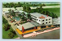 Miami Beach, FL - THE ROWE MOTEL ADVERTISING POSTCARD - MID CENTURY MODERN - B2