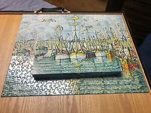 Blessing Of The Fishing Fleet Vtg Springbok Puzzle 500 one pc missing 1970