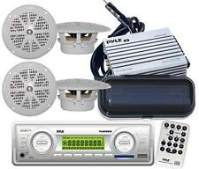Complete Marine Package In Dash MP3 USB Stereo +4 Speakers 400Watt Amp /Antenna