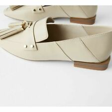 Soft Leather Mules Loafers Tassels ZARA US 8 - US 8.5