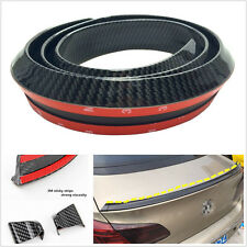 4.9ft/1.5M Carbon Fiber Surface Vehicles Spoiler Wing Rear Lip Protector Rubber