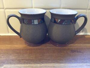 Denby - Marrakesh Craftsmans Mugs X2.