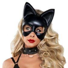 Cat Mask Adult Black Cat Woman Halloween Costume Fancy Dress