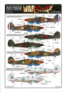 Kits World Decals 1/72 HAWKER HURRICANE Fighter Foreign Operators