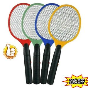 Electric Fly Bug Zapper Bat Racket Swatters Bugs Mosquito Wasp Pest KIllers