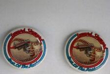 "Vintage Retro RARE 1982 LYNYRD SKYNYRD Baseball Gun 1"" Pin Button Two Count Lot"