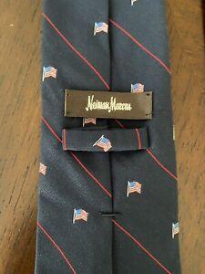 Neiman Marcus Blue Flag Tie