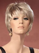 Ladies Wig Boycut Neck-Hugging Style Short Light Blonde Fashion Style Wig