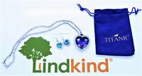 Herz des Ozeans Halskette Titanic Kette blauer Kristall Schmuck Weihnachten SET
