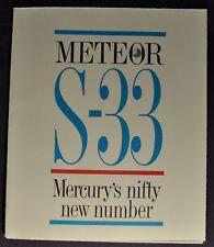 1962 Mercury S-33 Meteor Sales Brochure Folder Excellent Original 62