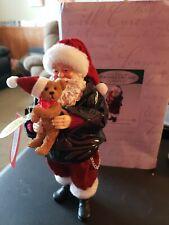 2012 Dept 56 Possible Dreams Biker Santa & Bear Figure Born To Be Furry #4026697