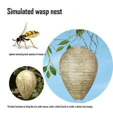 1X Wasp Deterrent Yellowjackets Bee Hornets- Fake Nest- Simulated & Natural