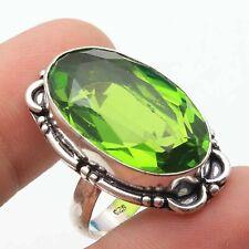 6.5 Ethnic Gift Jewelry T16599 Peridot Quartz Hamdmade Gemstone Ring Us