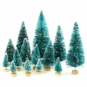 34Pcs Mini Christmas Tree Ornaments Xmas Festival Home Party Tabletop Decoration
