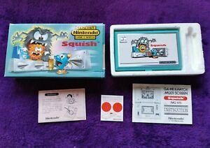 GAME & WATCH SQUISH 1986 LEER DESCRIPCIÓN PocketSize Nintendo
