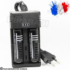 2 PILES ACCU RECHARGEABLE 18650 3.7v 6000mAh BATTERY BATTERIE + CHARGEUR RS-93