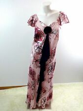 $469 NWT JACQUES VERT WOMENS PINK & PURPLE SILK CHIFFON & SATIN DRESS SIZE 18