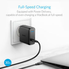 Anker USB Type C Wall Charger 30W W/Power Delivery for MacBook,S10/S9, LG&more