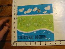 Vintage Tourist Booklet about BOCHUM GERMANY circa 1960s