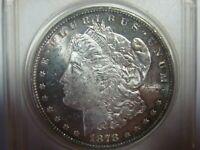 1878 7/8 tailfeathers Morgan Silver Dollar /  UNCIRCULATED VAM- 45