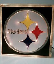 Lighted Pittsburgh Steelers Glass Block Light~ Home Decor~Gift~Lamp